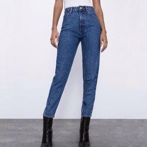 Zara Mom fit classic dark blue wash jeans size 4
